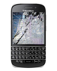 Blackberry Q10 Cracked, Broken or Damaged Screen Repair