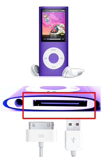 How to charge an ipod nano